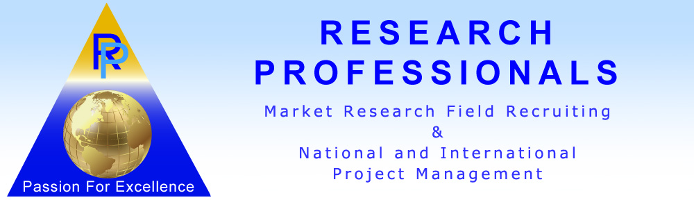 Research Professionals – Market Research Field Recruiting & Project Management, Focus Groups